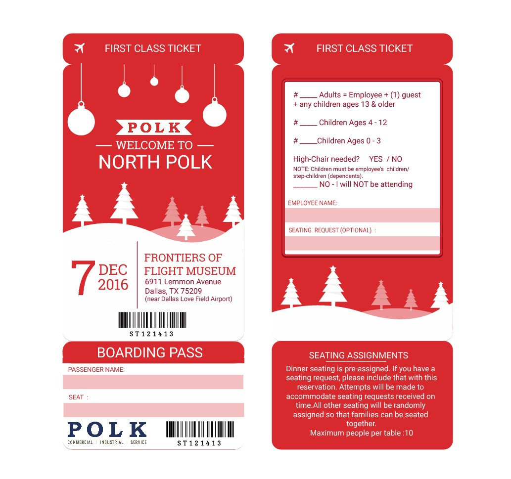 Polk Christmas Party Invitation