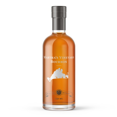 Minimal label design for new bourbon whiskey brand