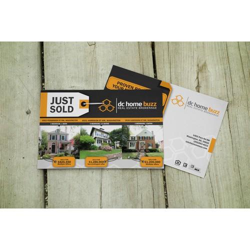 Create a Hip & Modern Just Sold 3 Property Postcard