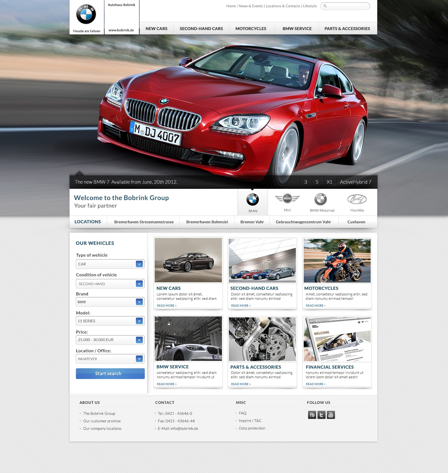 ~~_.__\__ Website for authorized BMW dealer