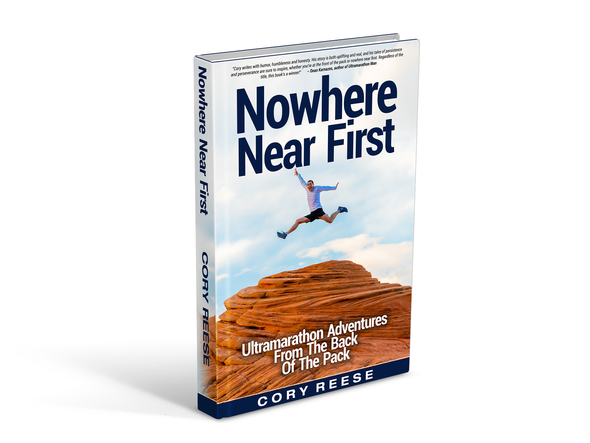 "Create a stunning cover for my book ""Nowhere Near First"""