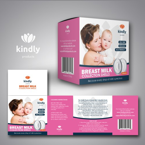 Packaging box for a childcare product