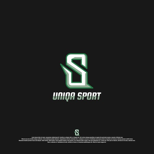 Logo for a sports store