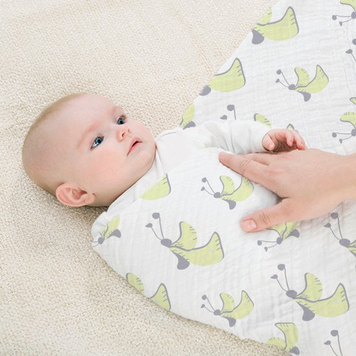 Cute Animal muslin swaddle baby blanket design