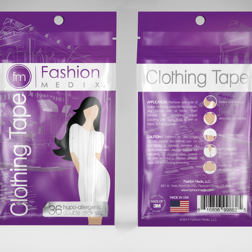 Packaging for clothing tape