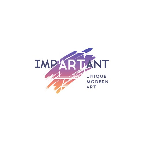 impArtant -  a logo to sell modern artwork in the US