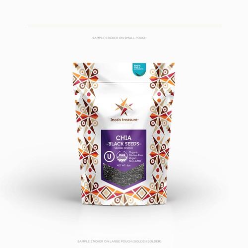 Sticker Design for Inca Packaging
