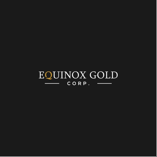 Word Mark Logo Concept for EQUINOX GOLD
