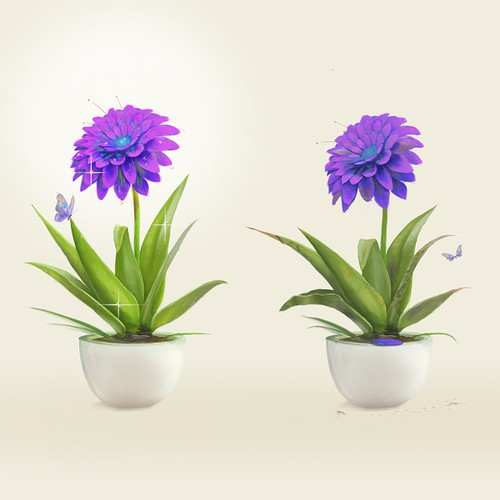 Plant illustration for Blooming - A Digital Mind Coach For Modern Leaders