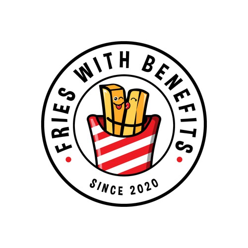 French Fries Food truck Logo