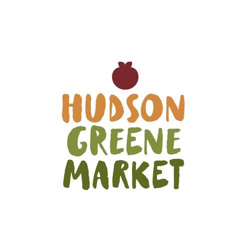 Logo concept for food market