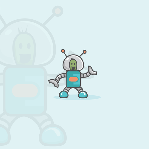 logo business card  . robot concept  . funnt