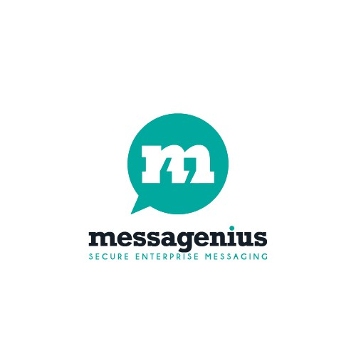 Simple and clever logo for messaging app