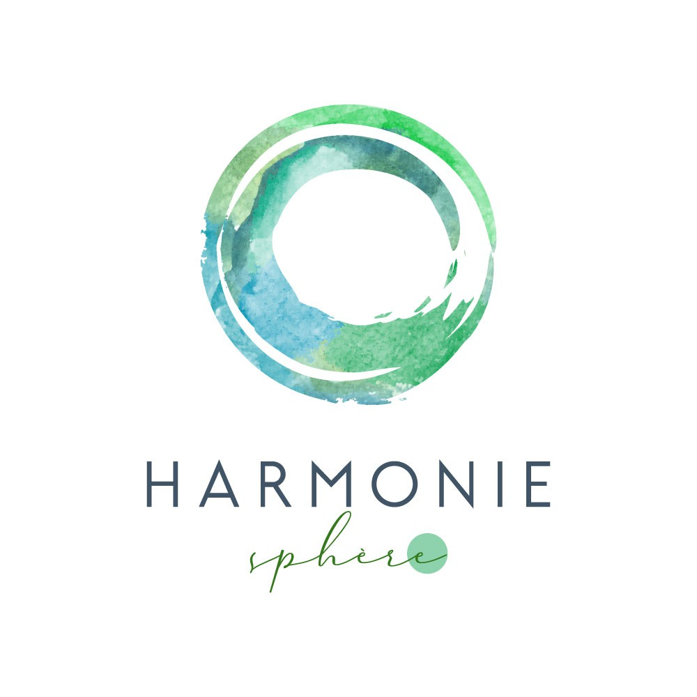 Happy, strong and healthy!  Logo for a company orientated towards wellbeing and transformation.