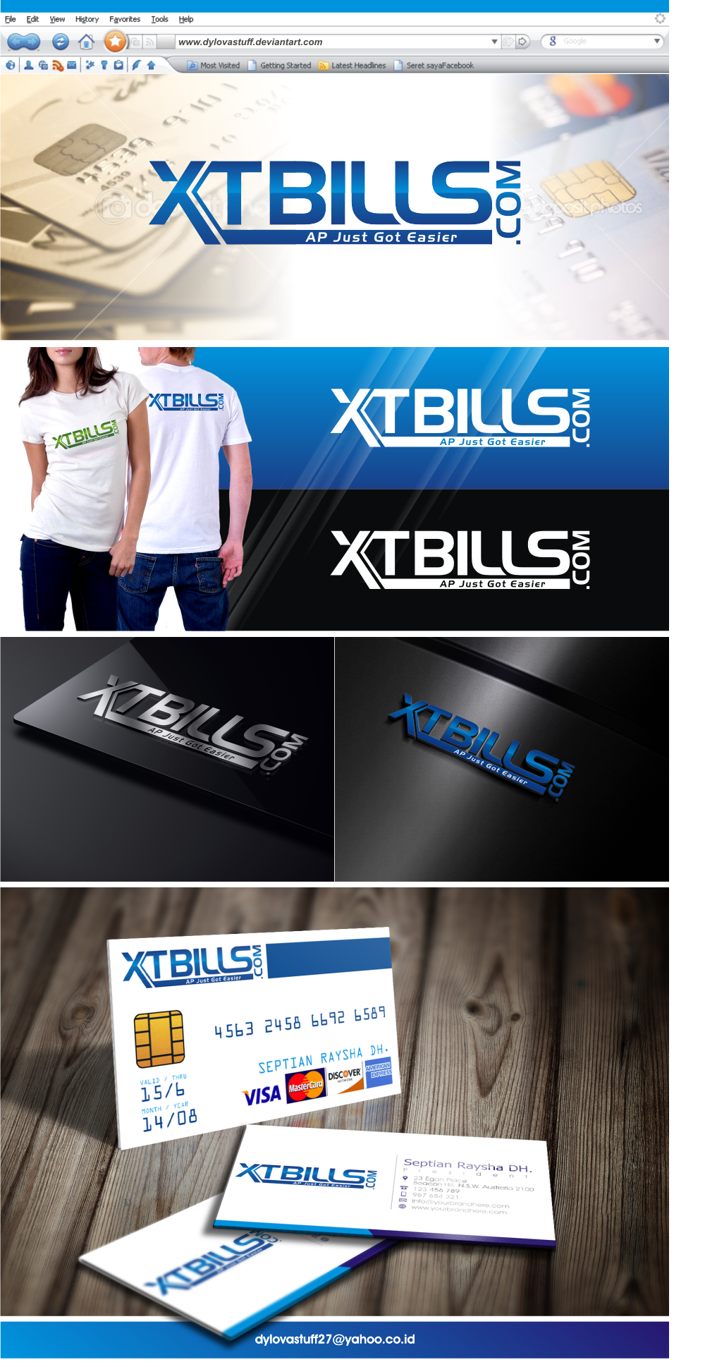 logo and business card for XTBILLS.COM