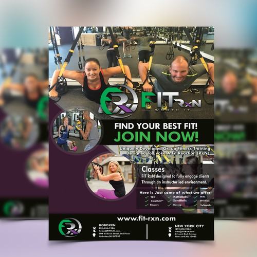Fitness Flyer for NYC based Studio