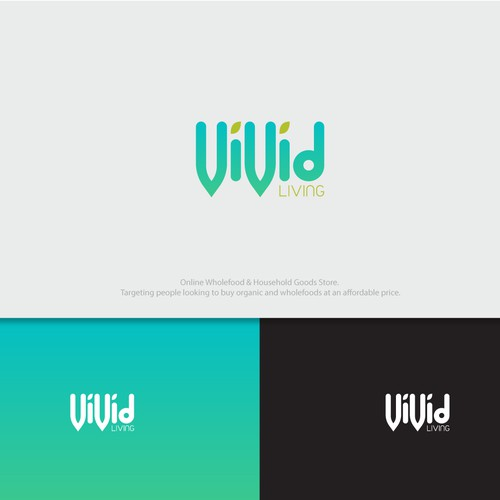 vivid logo for vivid living fruit online company