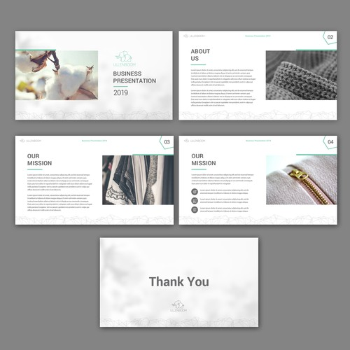 Power Point Deck for Apparel Brand