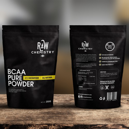 Supplement Product packaging Raw Chemistry