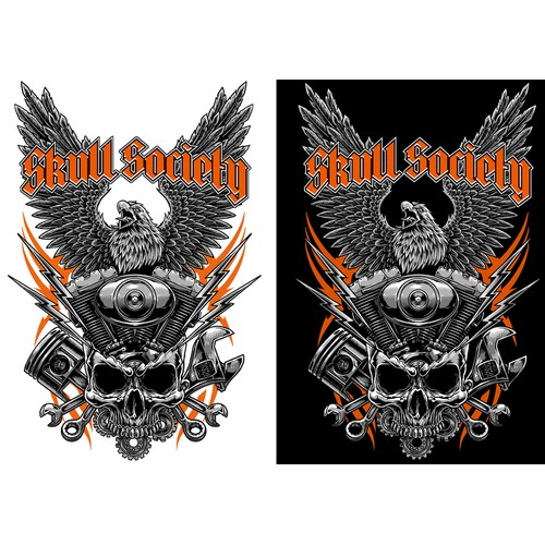 Tshirt Artwork for Skull Society