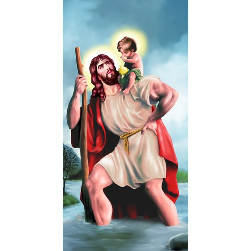 Create An Inspirational Image of St. Christopher