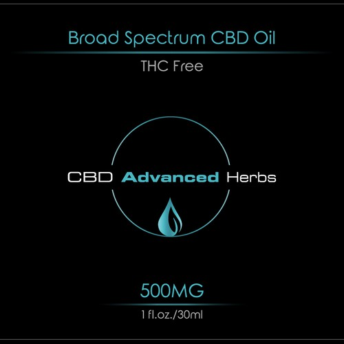 Label for CBD Oil product