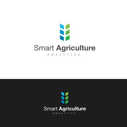 logo and business card for Smart Agriculture Analytics