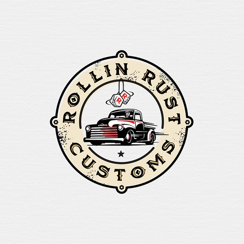 create classic vintage logo for hot rod restoration company