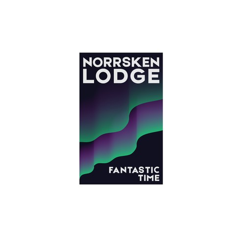 Logo concept for Norrsken Lodge, camp in the heart of Lapland under the northern lights
