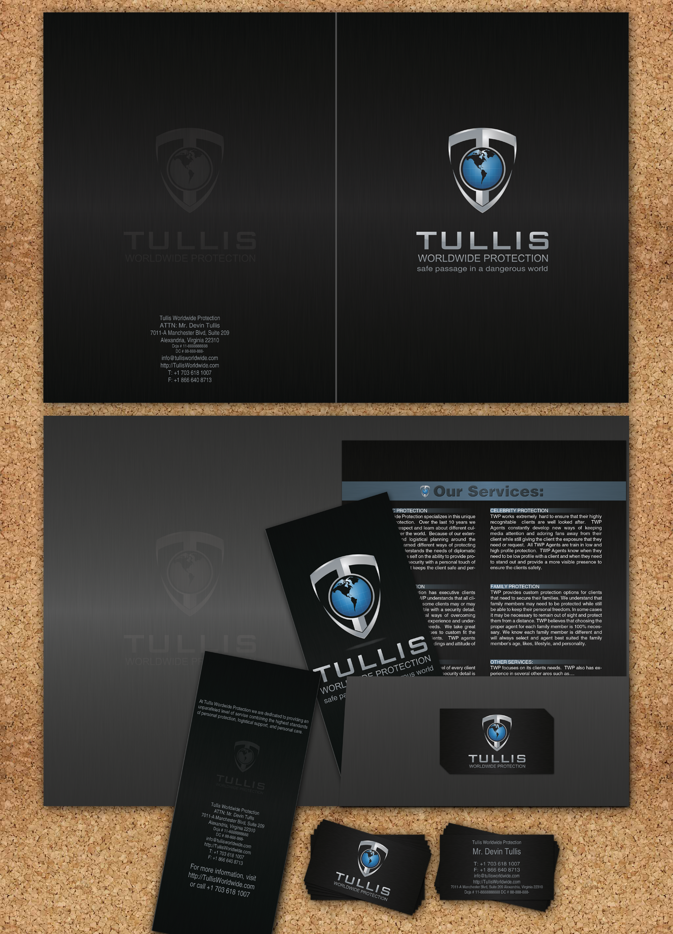 Looking for a great Brochure for Tullis Worldwide Protection inc.