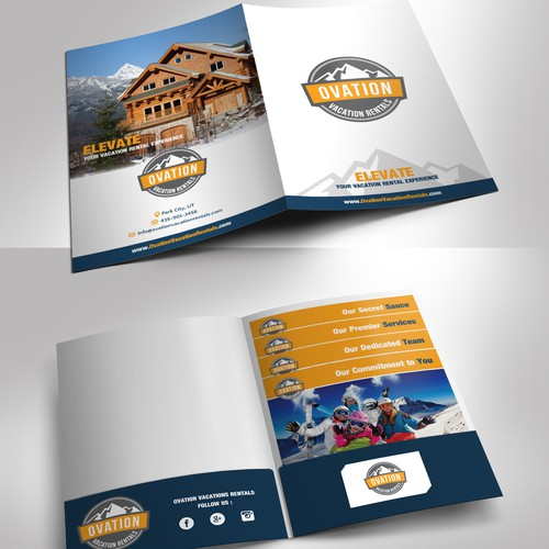 Ovation Vacation Rental Folder presentation sheets and Folder design