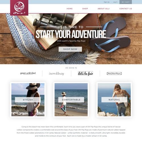 Trendy design for Flip-flop website