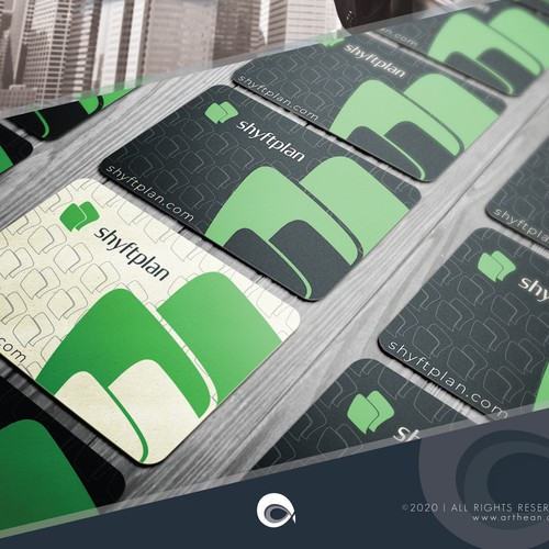 Businss card design for tech co