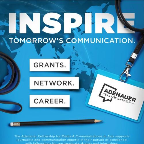 Print Ad Design for Adenauer Fellowship