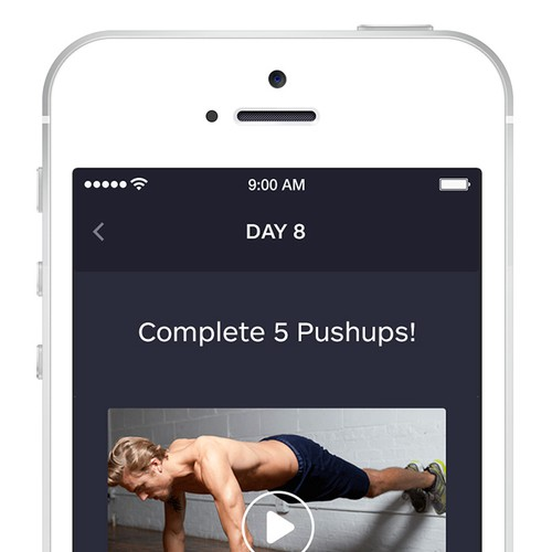 Sleek, clean, re-skinnable design needed for fitness apps!