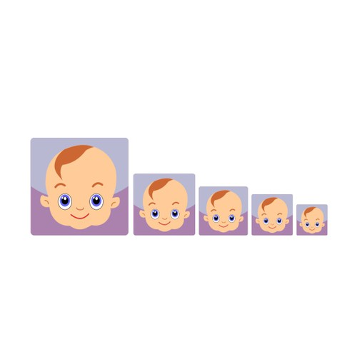 iPhone/Android app icon for baby list app