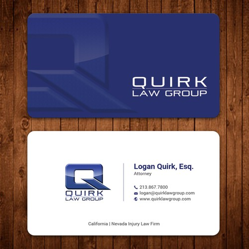 Quirky Personal Injury Firm needs Business Card refreshed