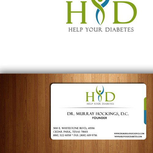 Help Help Your Diabetes with a new logo and business card