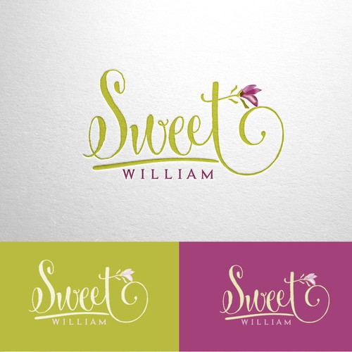 Elegant logo for Sweet William, a flower bulb business