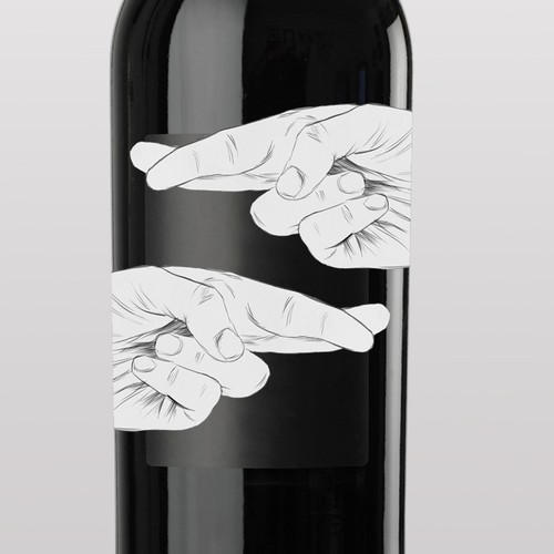 Design an eye-catching contemporary wine label for Doble Cruz