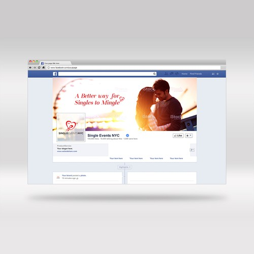 Facebook cover design for Single events NYC