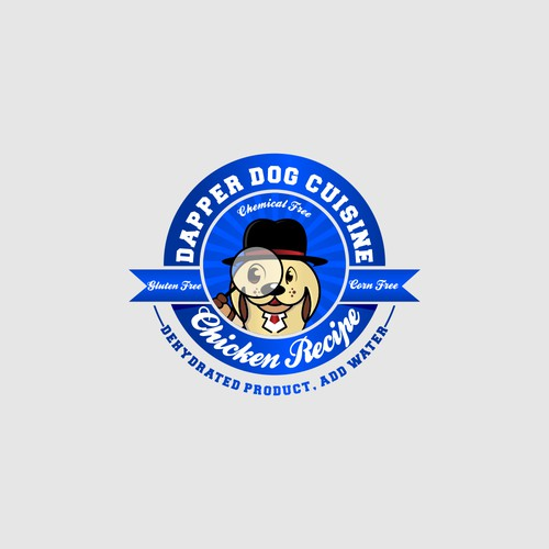 Design a Dapper logo for a luxury dog food brand!