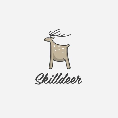 Logo illustration concept Skilldeer