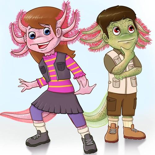 Axolotl Characters design
