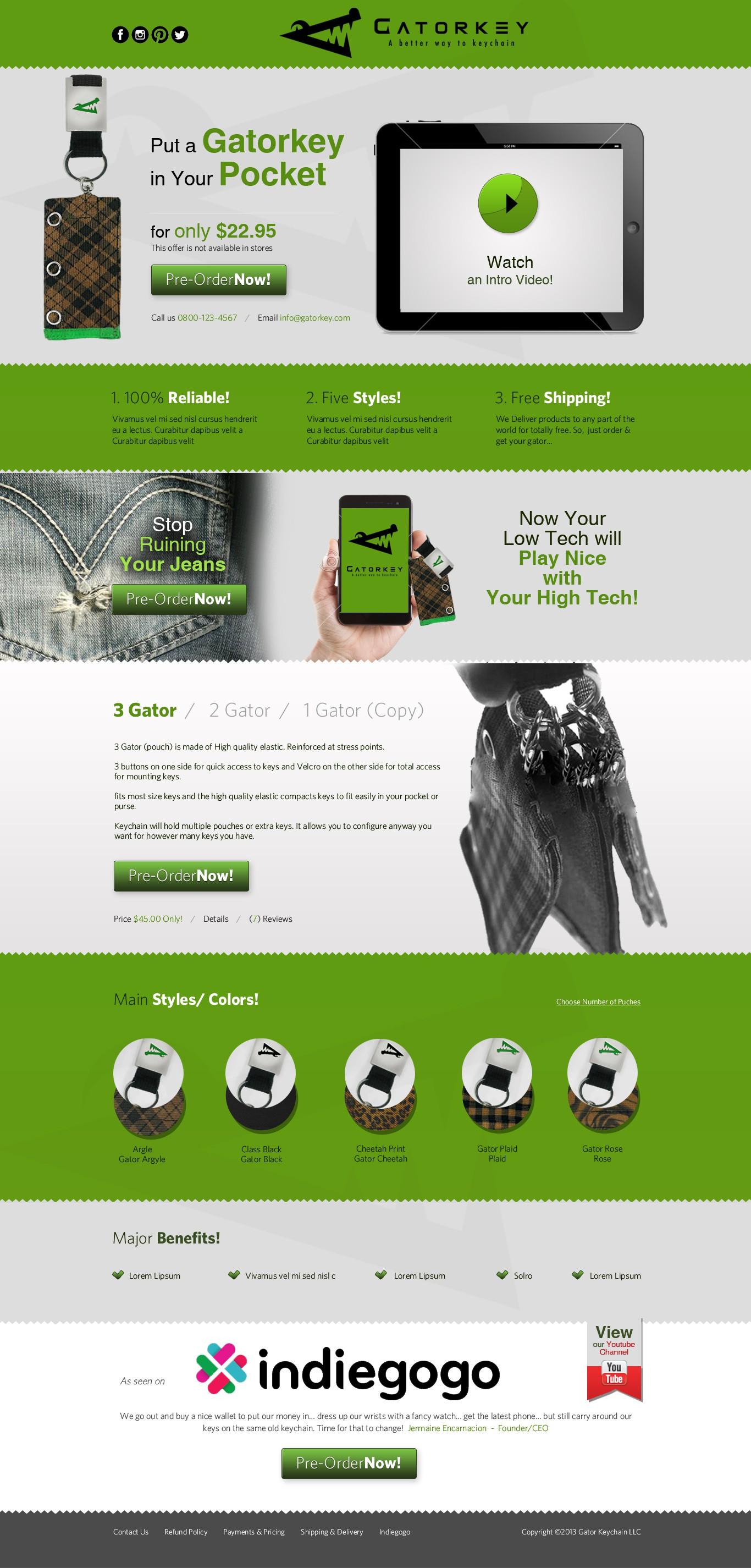 Create the next website design for www.gatorkey.com