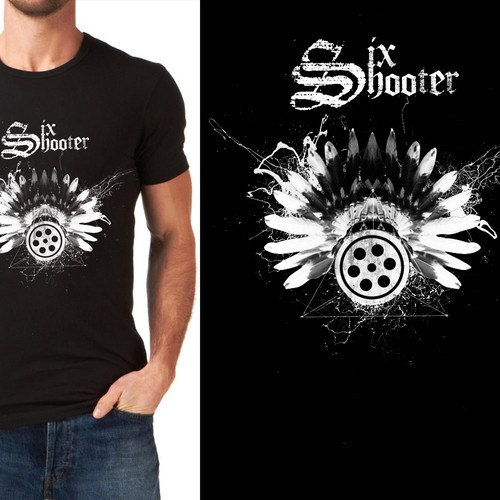 six shooter T-shirt