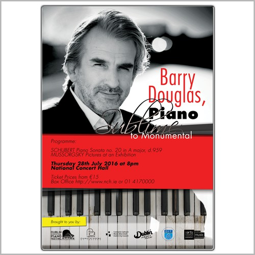 Poster for a piano concert