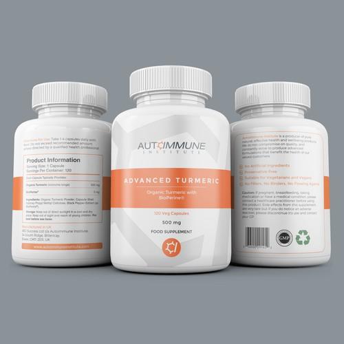 Autoimmune Institute Turmeric Label Design