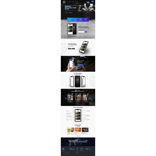 Amazing Website for Fitness App