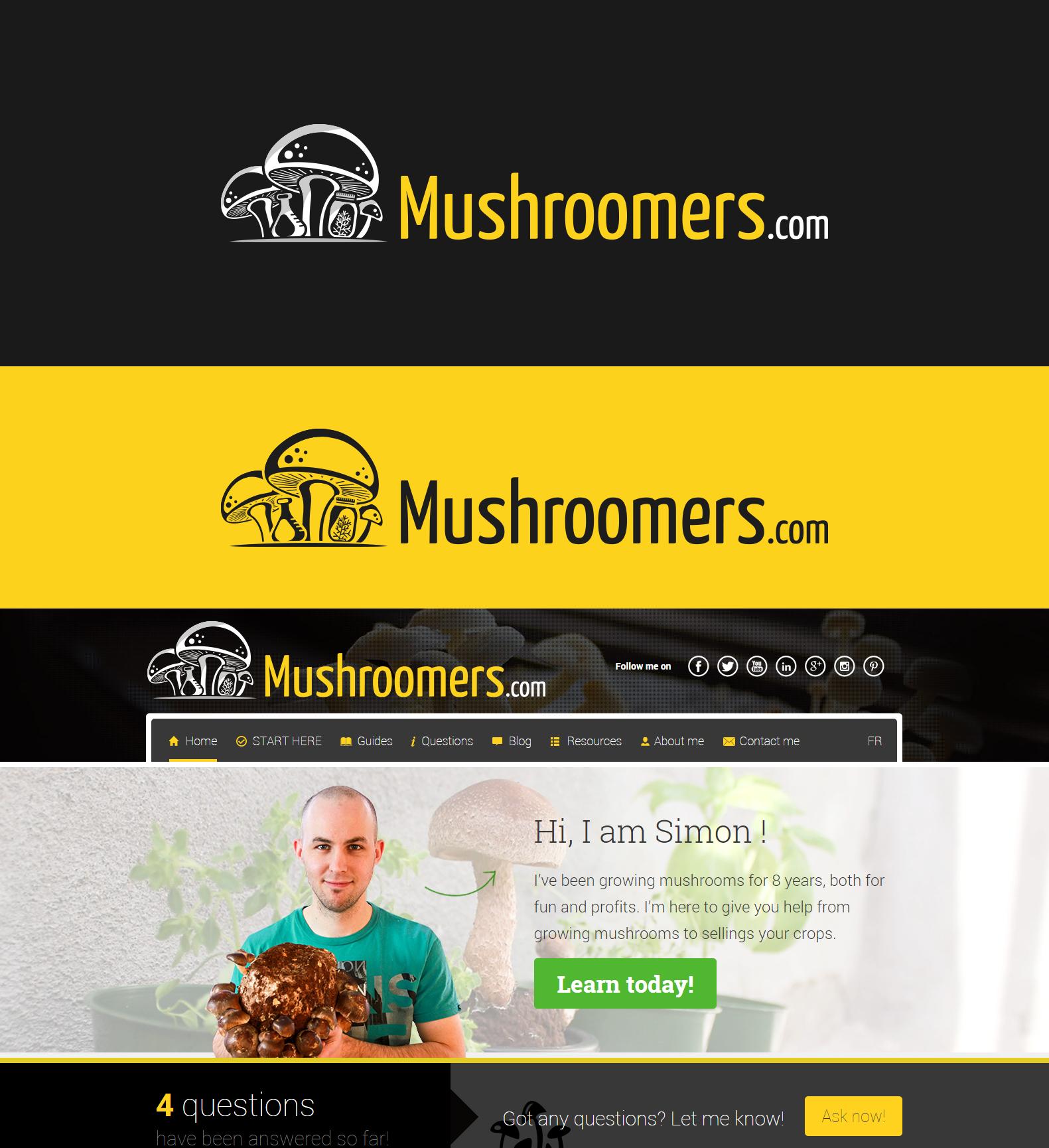 Growing Mushrooms Logo!